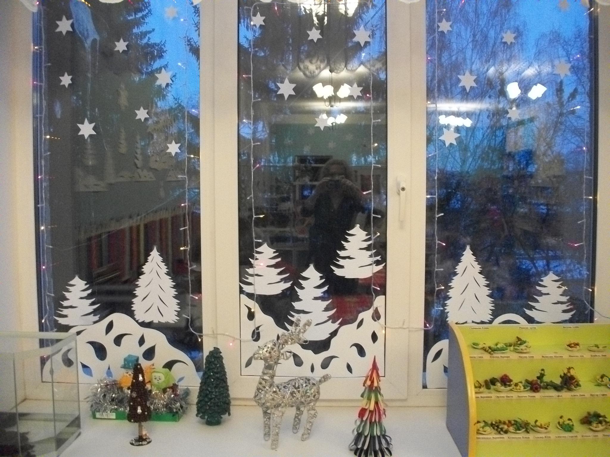 Разрисуем окна к новому году