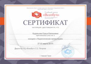 Кудряшова Елена Евгеньевна